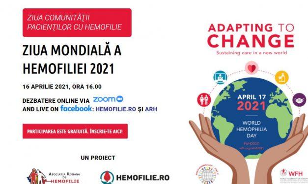 Află poveștile campionilor comunităţii internaţionale de hemofilie la întâlnirea de vineri, 16 aprilie 2021