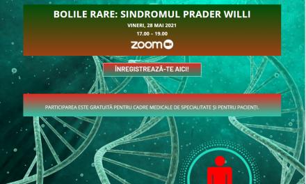 """Comunitatea OSC – Bolile Rare: Dezbatere Online """"Sindromul Prader Willi"""" – 28 mai"""