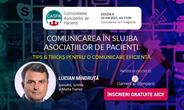 Comunitatea Caspa.ro: Lucian Mândruță ne-a dezvăluit din trucurile sale pentru o comunicare eficientă