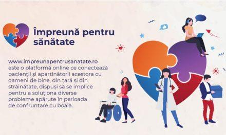 """""""Împreună pentru Sănătate"""", prima platformă digitală în sprijinul pacienților oncologici și al celor cu boli grave"""