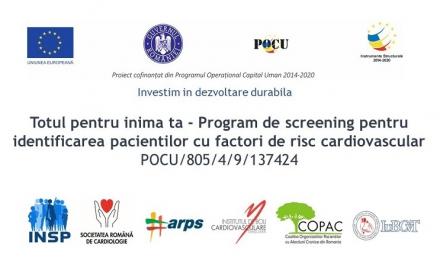Totul pentru inima ta – Proiect de screening al factorilor de risc cardiovascular