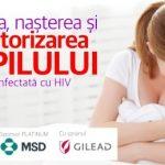 """Eveniment online: """"Sarcina, nașterea și monitorizarea copilului la femeia infectată cu HIV""""- 10 august 2021"""