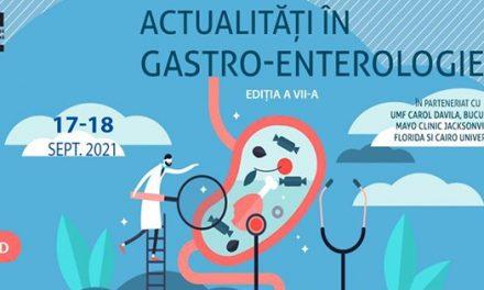 """""""Actualități în Gastroenterologie"""", ediția a VII-a: 17 – 18 septembrie 2021"""