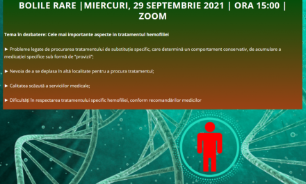 La întâlnirea din septembrie a Comunității OSC – Bolile Rare s-a discutat despre cele mai importante aspecte în tratamentul hemofiliei