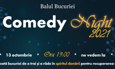 Asociația Autism Voice anunță Balul Bucuriei Comedy Night 2021