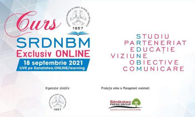 Sunt deschise înscrierile pentru primul curs din seria cursurilor de toamnă organizate de Societatea Română de Diabet, Nutriție și Boli Metabolice