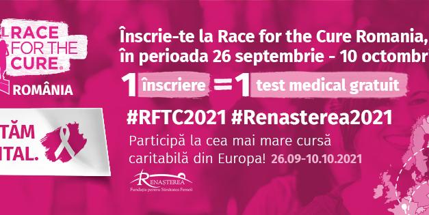 Fundatia Renasterea organizeaza Race for the Cure Romania 2021 in DIGITAL