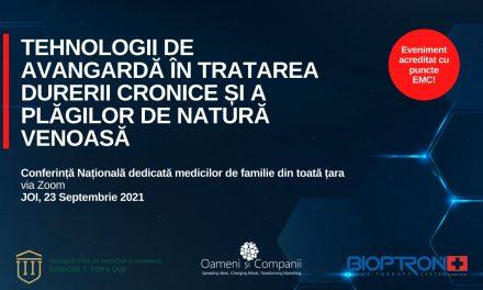"""Medici de familie din toată țara sunt așteptați la Conferința digitală """"Tehnologii de avangardă în tratarea durerii cronice și a plăgilor de natură venoasă"""""""