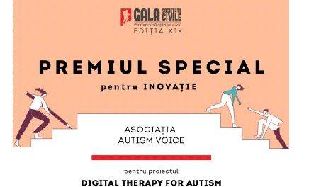 Asociația Autism Voice premiată în cadrul Galei Societății Civile 2021