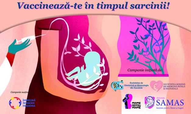 """Lansarea Campaniei """"Vaccinul în sarcină, protecție pentru amandoi""""- pentru încurajarea vaccinării gravidelor împotriva Covid"""