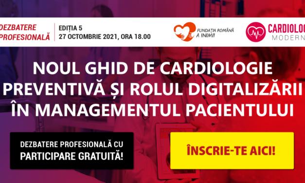 CardiologieModerna.ro: Astăzi, de la ora 18.00 discutăm despre noul ghid de cardiologie preventivă și rolul digitalizării în managementul pacienților