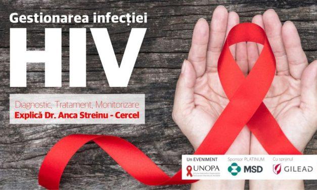"""""""Gestionarea infecției HIV"""", eveniment UNOPA, 22 octombrie 2021"""