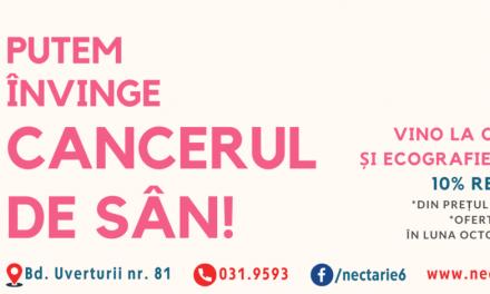 """Octombrie, Luna Internaţională a Prevenirii Cancerului la Sân la Centrul de Sănătate """"Sfântul Nectarie"""" din București"""
