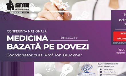 """Simpozionul """"Medicina Bazată pe Dovezi"""": 15-16 octombrie, online"""