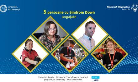 """125 de persoane cu Sindrom Down au fost instruite și 5 persoane au fost angajate în cadrul programului """"Angajați, NU Asistați!"""" derulat în 15 județe din țară"""